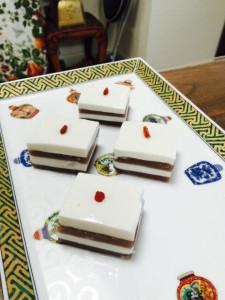 椰子紅豆布丁