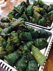生徒さんが作られたたくさんのチマキ
