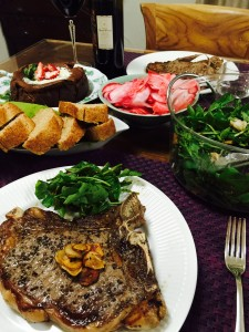 Tボーンステーキでバレンタインディナー