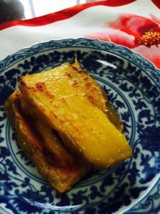 洋菓子に大変身の紅はるかバター焼き