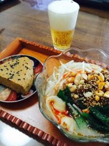 刀削麺とマーラーガオ